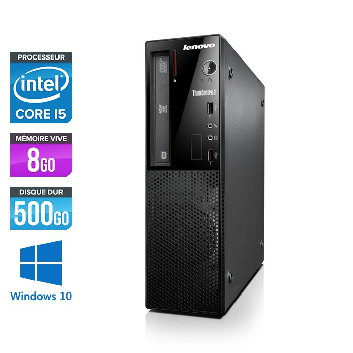 Lenovo ThinkCentre Edge 72 SFF - Core i5 - 8Go - 500Go - Windows 10