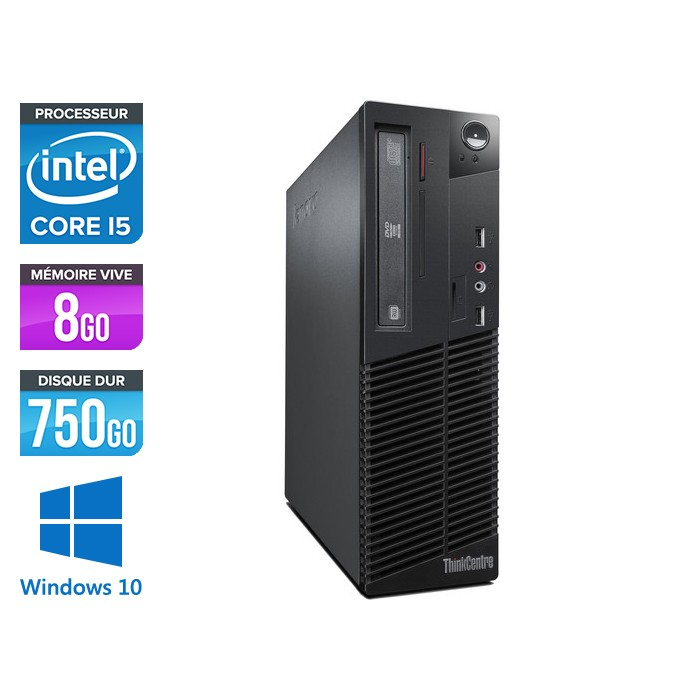Lenovo ThinkCentre M72E SFF - Core i5 - 8Go - 750Go - Windows 10