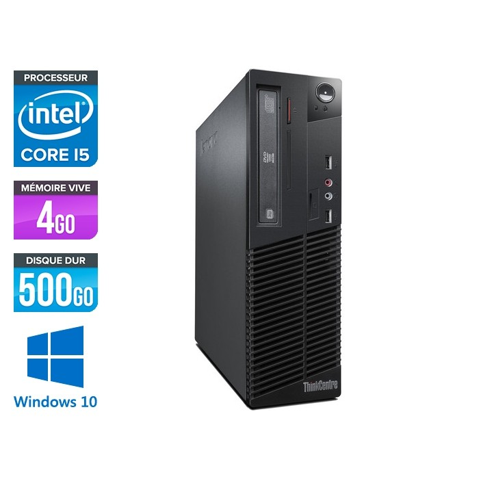 Lenovo ThinkCentre M72E SFF - Core i5 - 4Go - 500Go - Windows 10