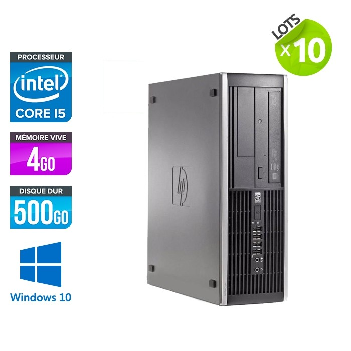 lot de 10 HP Elite 8300 SFF - i5 - 4Go - 500Go HDD - W10