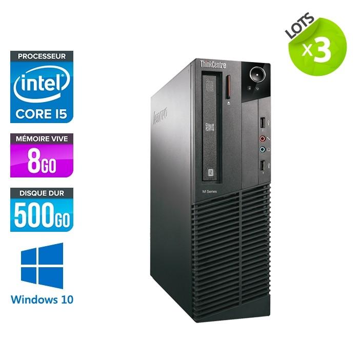 Lot de 3 Lenovo M93P SFF - i5 - 8Go - 500 Go HDD - Windows 10