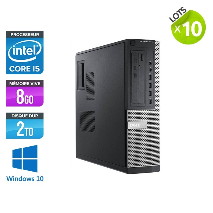lot de 10 Dell Optiplex 7010 Desktop - i5 - 8Go - 2To HDD - Windows 10