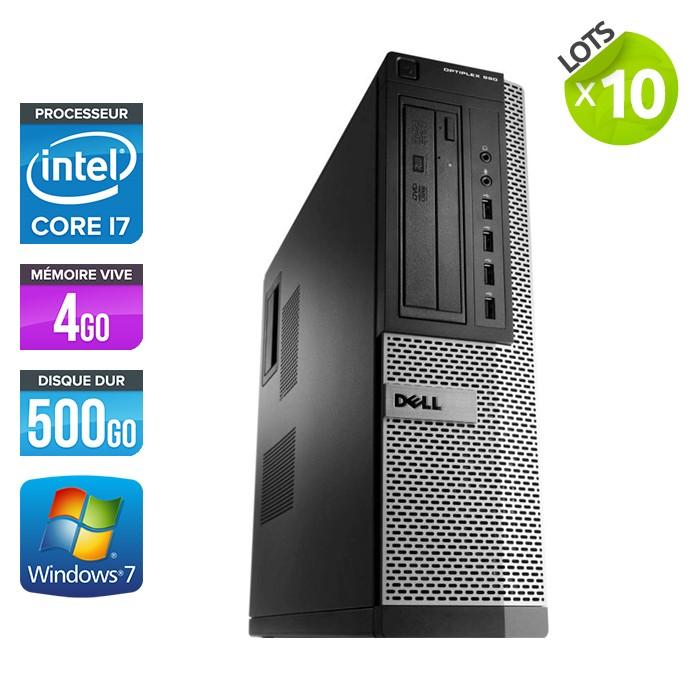 Lot de 10 Dell Optiplex 990 - Core i7 - 4Go - 500Go