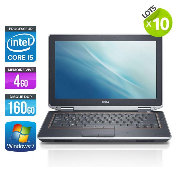 Lot de 10 Dell Latitude E6320 - Core i5 - 4Go - 160Go