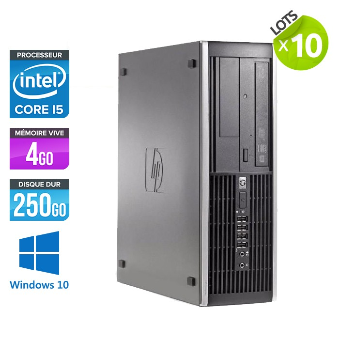 Lot de 10 HP Elite 8200 SFF - Core i5 - 4Go - 250Go - Windows 10