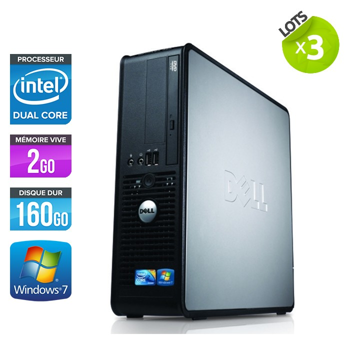 Lot de 3 Dell Optiplex 380 SFF