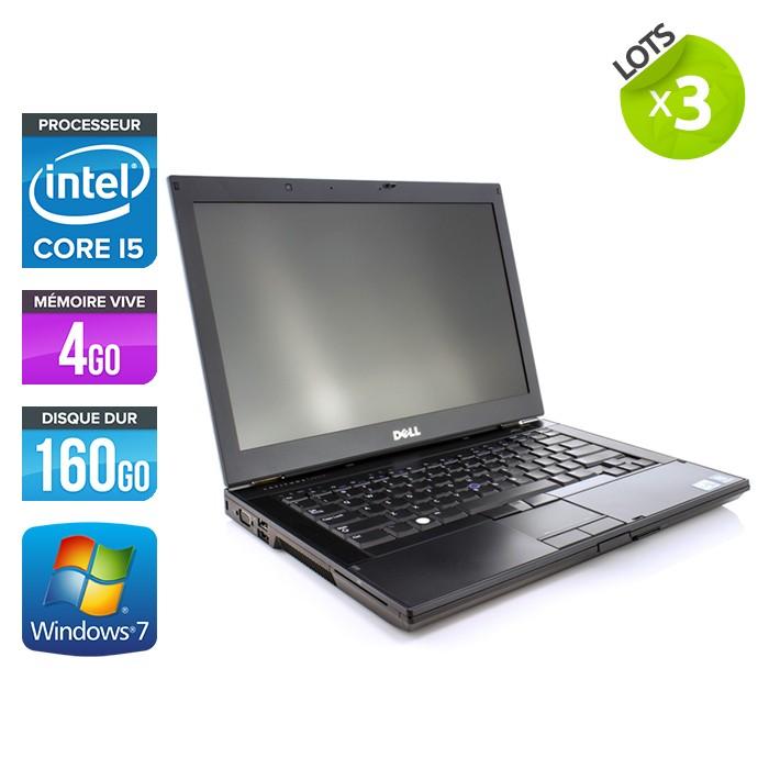 Lot de 3 Dell Latitude E6410 - Core i5 - 4Go - 160Go