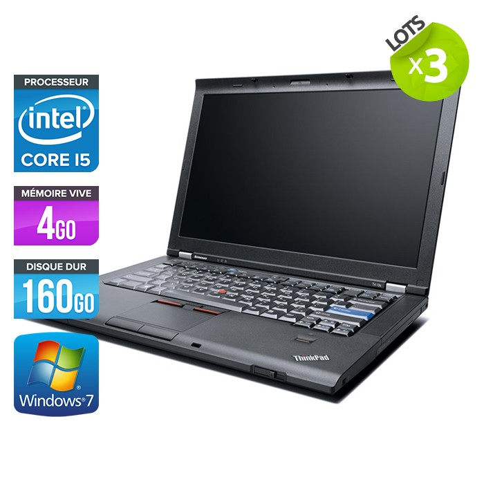 Lot de 3 Lenovo ThinkPad T410