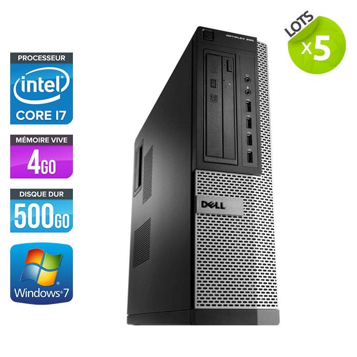 Lot de 5 Dell Optiplex 990 - Core i7 - 4Go - 500Go