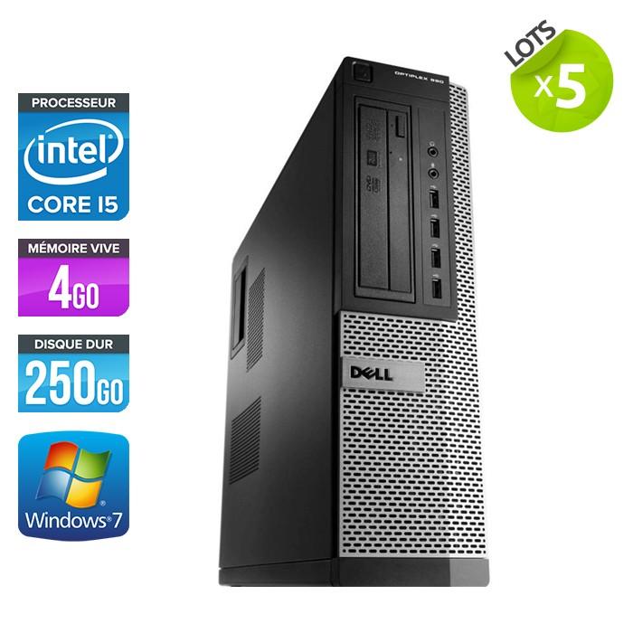 Lot de 5 Dell Optiplex 790 Desktop - Core i5 - 4Go - 250Go
