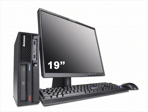 "IBM Lenovo ThinkCentre M57 + Ecran TFT 19"" + Clavier + Souris"