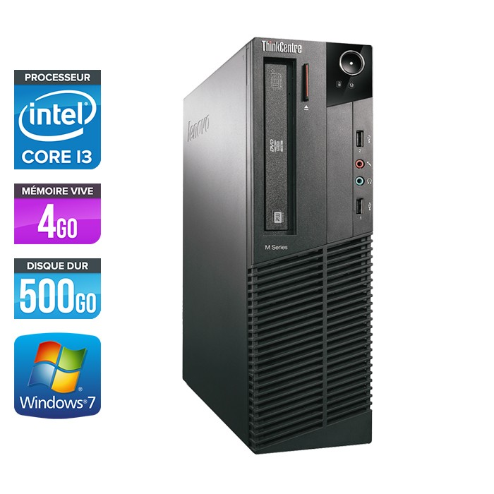 Lenovo ThinkCentre M81 SFF - Core i3 - 4Go - 500Go