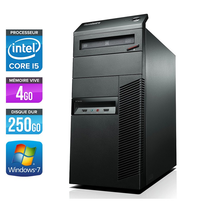 LENOVO THINKCENTRE M90 MT - Core i5 - 4Go - 250Go