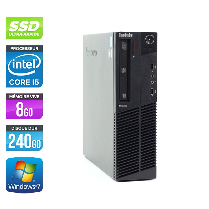 Lenovo ThinkCentre M91P SFF - Coree i5 - 8Go - 240Go SSD