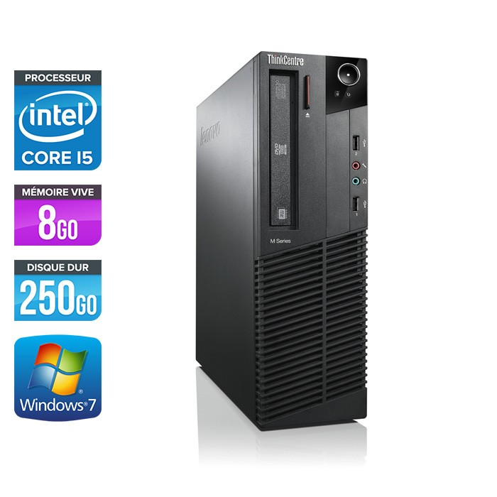 Lenovo ThinkCentre M92P SFF - Core i5 - 8Go - 250Go