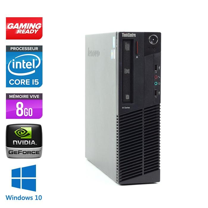 Lenovo ThinkCentre M92P SFF - i5 3470 - 8 Go - HDD 500 Go - Nvidia GT 1030 - Windows 10
