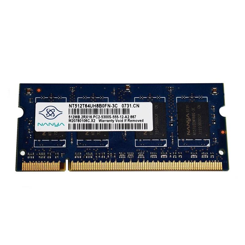 Nanya - SO-DIMM - 512 MB - DDR2 - NT512T64UH8B0FN-3C - PC2 5300S - 667 Mhz