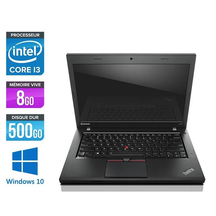Lenovo ThinkPad L450 - i3 - 8Go - 500Go HDD - webcam - Windows 10