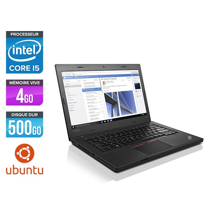 Ordinateur portable reconditionné - Lenovo ThinkPad L460 - 4405U - 4Go - 500Go HDD - Linux