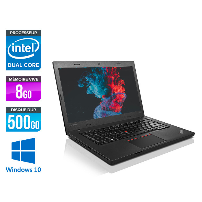 Ordinateur portable reconditionné - Lenovo ThinkPad L460 - 4405U - 8Go - 500Go HDD - Windows 10