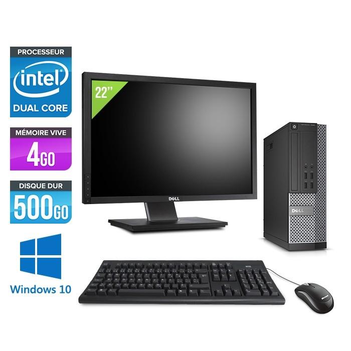 Pack Dell  Ecran 22 - Optiplex 7020 SFF - Intel pentium - 4go - 500go - hdd - windows 10