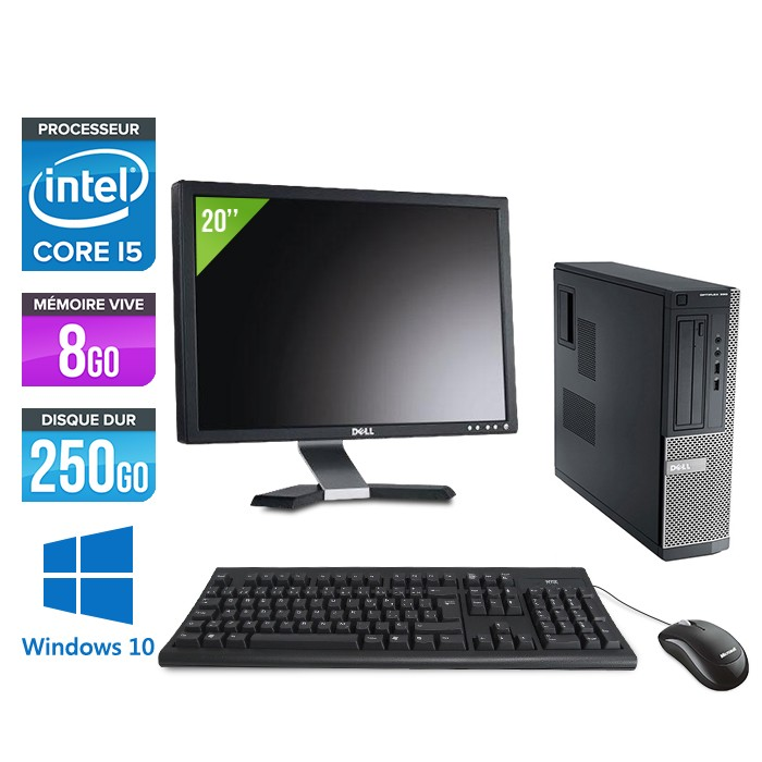 Dell Optiplex 390 Desktop Windows 10 + Ecran 20''