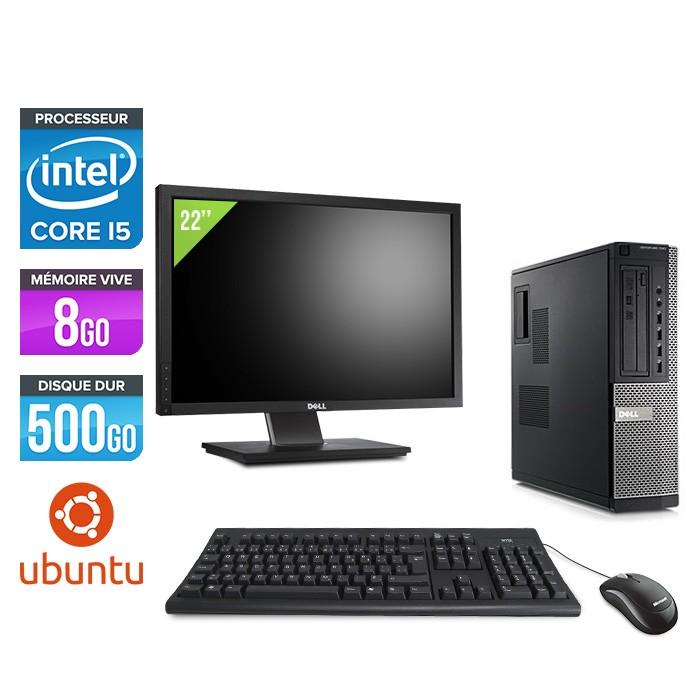 Dell Optiplex 790 Desktop + Ecran 22'' - i5 - 8Go - 500Go HDD - Linux