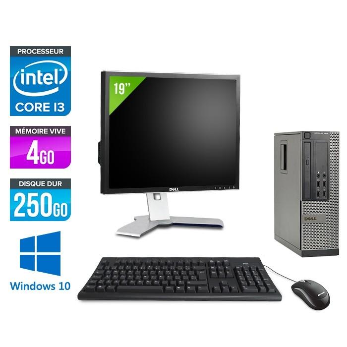 "Dell Optiplex 790 SFF - i3 - 4Go - 250Go - Ecran 19"" - W10"