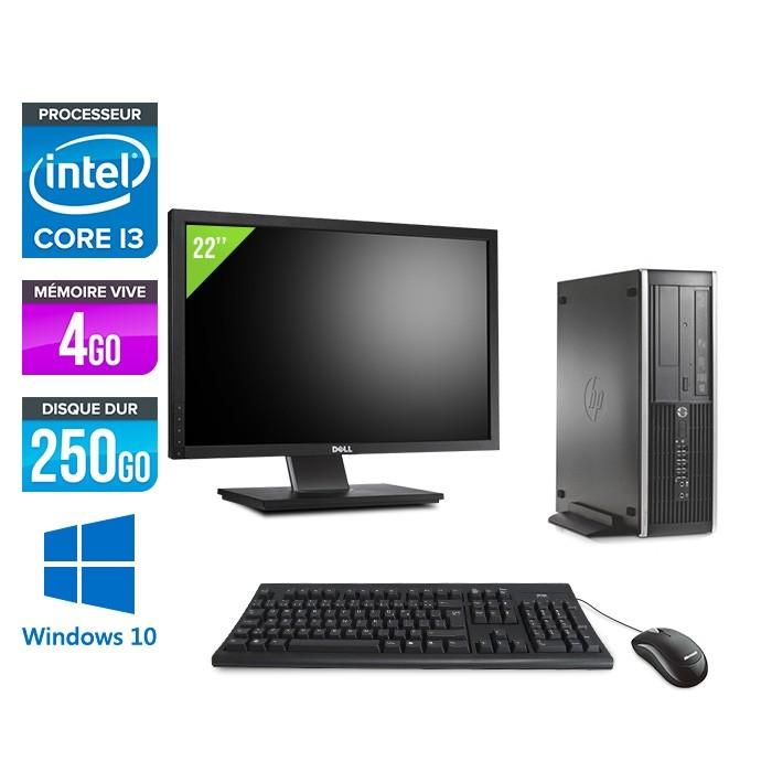 Pack HP 6300 Pro SFF - i3 - 4 Go- 250 Go HDD - Windows 10 + Ecran 22