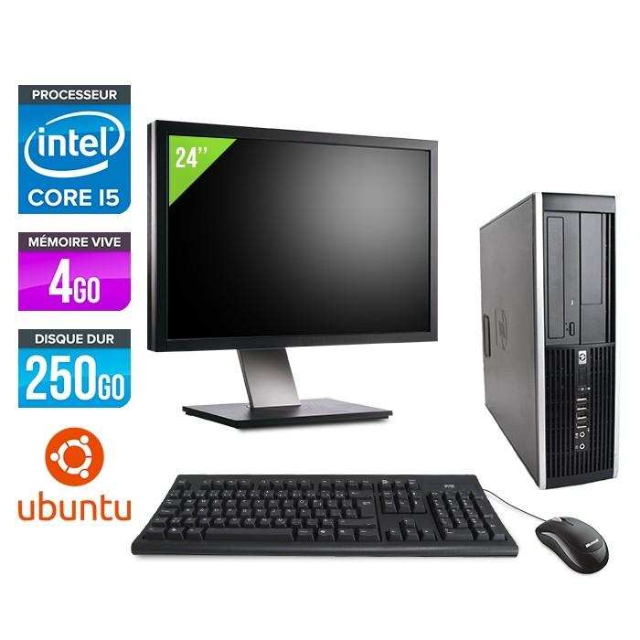 "HP Elite 8200 SFF + Ecran 24"" - i5 - 4Go - 250Go - Linux"
