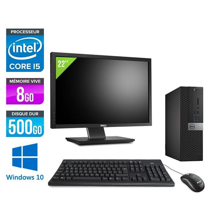 Dell Optiplex 7040 Sff Windows 10 Ecran 22