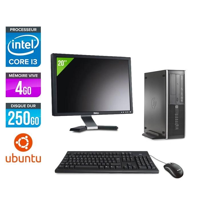 Pack PC bureau HP 6200 PRO SFF - i3 - 4Go - 250Go - Linux - Ecran 20