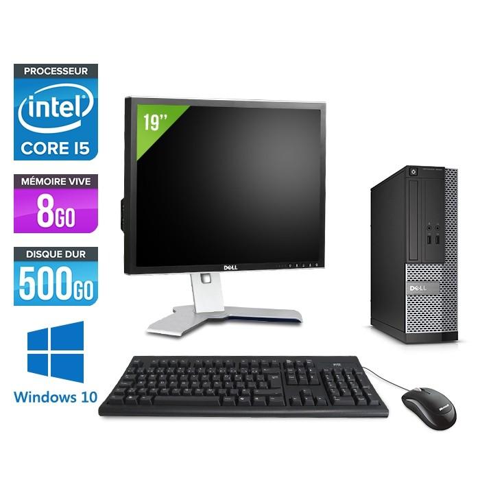 """Pack avec pc de bureau Dell Optiplex 3020 SFF + écran 19"""" - i5 - 8Go - 500Go - W10"""