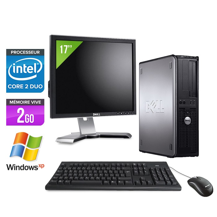 Dell Optiplex 755 - E4500 - 2Go - XP Pro + Ecran TFT 17""