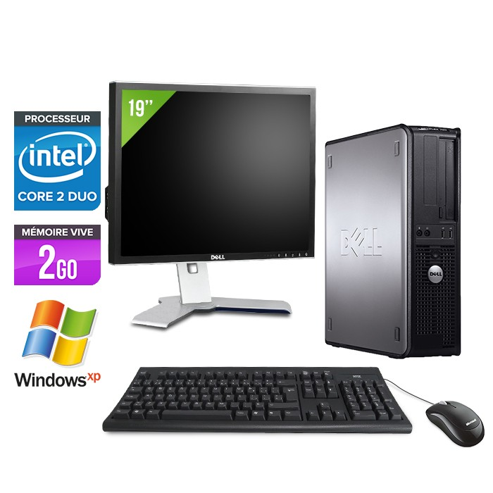 Dell Optiplex 755 - E4500 - 2Go - 80Go - XP Pro + Ecran 19""