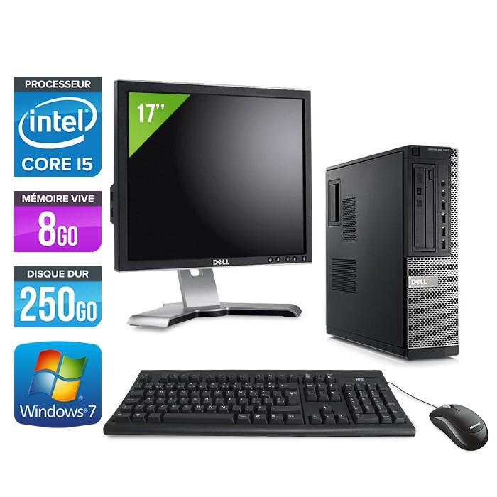 Dell Optiplex 790 Desktop + Ecran 17'' - Core i5 - 8Go - 250Go