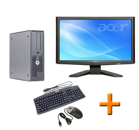 "PC BUREAU Dell Optiplex GX620 SFF + Ecran TFT 22"" + Clavier + Souris"
