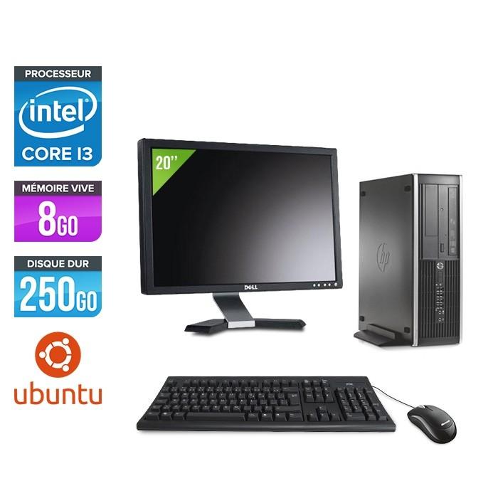 Pack HP 6300 Pro SFF - i3 - 8Go- 250 Go HDD - Ubuntu / Linux + Ecran 20