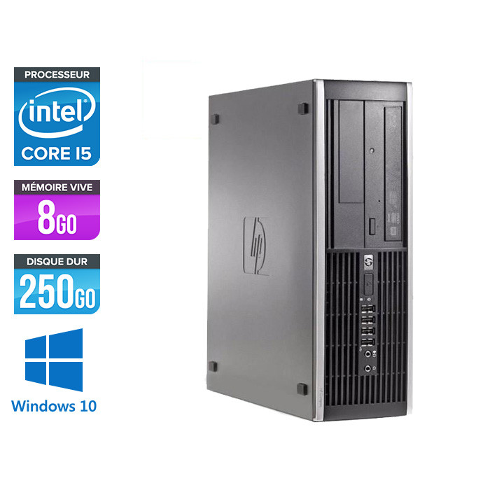 Pc de bureau reconditionné - HP 6200 PRO SFF - Core i5 - 8Go - 250Go HDD - Windows 10