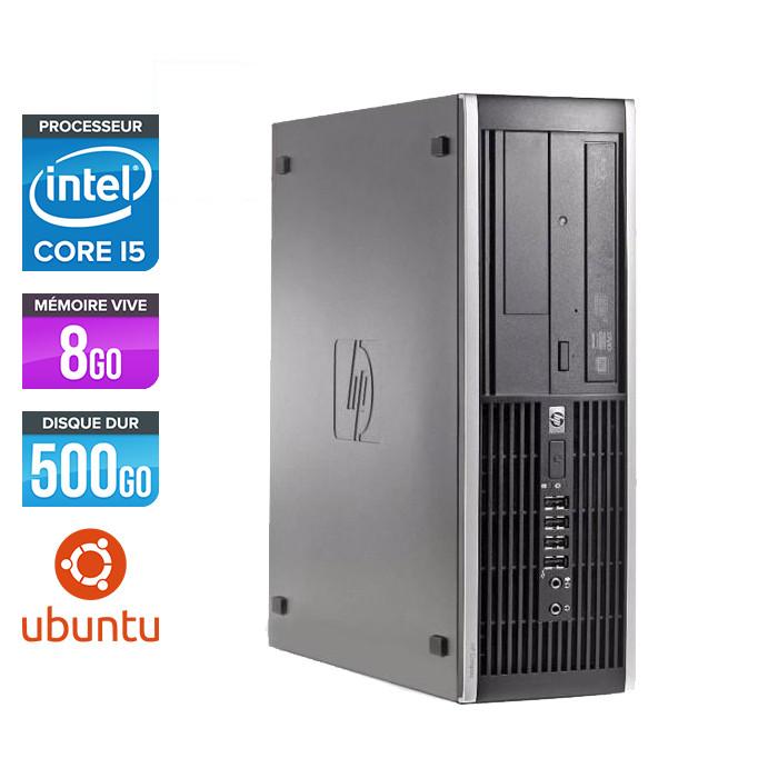 Pc de bureau reconditionné - HP 6200 PRO SFF - Core i5 - 8Go - 500Go HDD - Ubuntu / Linux