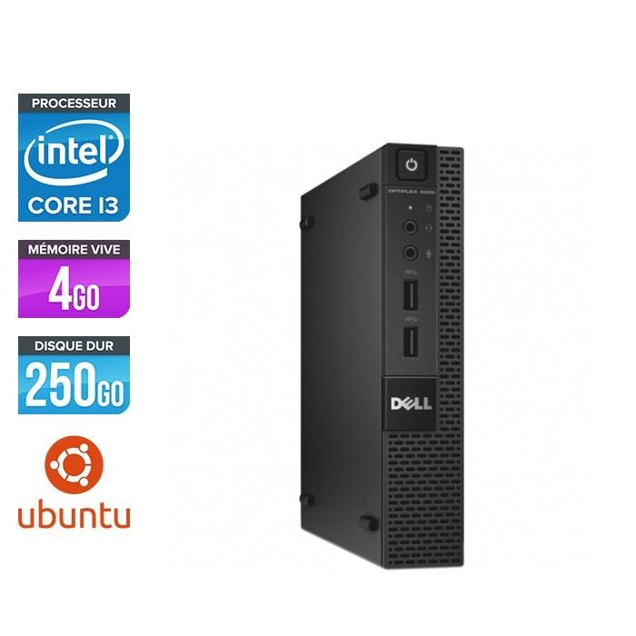 Pc de bureau reconditionné - Dell 3020 Micro - Intel Core i3 - 4Go - 250Go HDD - Linux