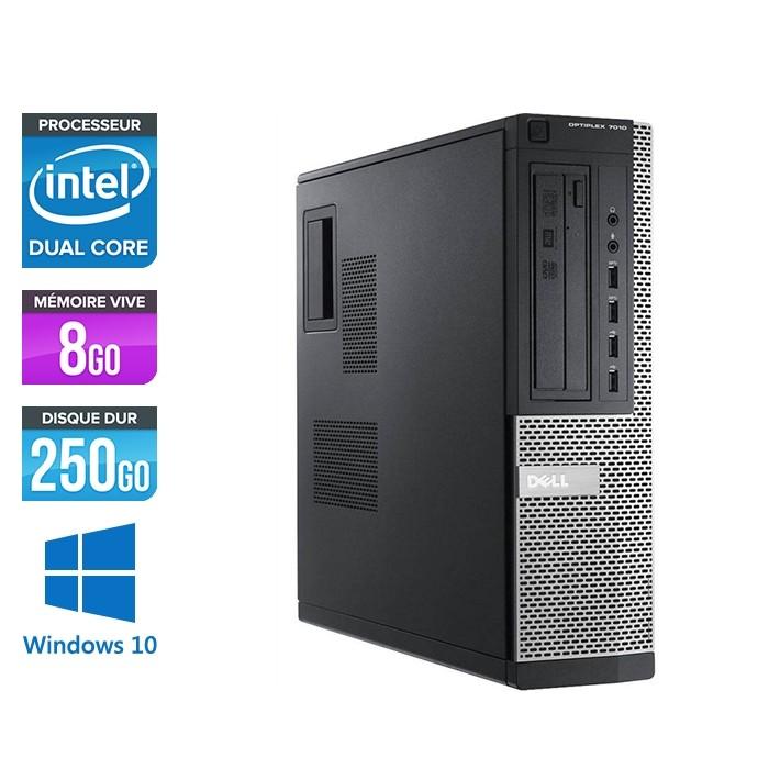 Pc bureau reconditionné - Dell Optiplex 7010 DT - Pentium G645 - 8Go - 250Go HDD - Windows 10