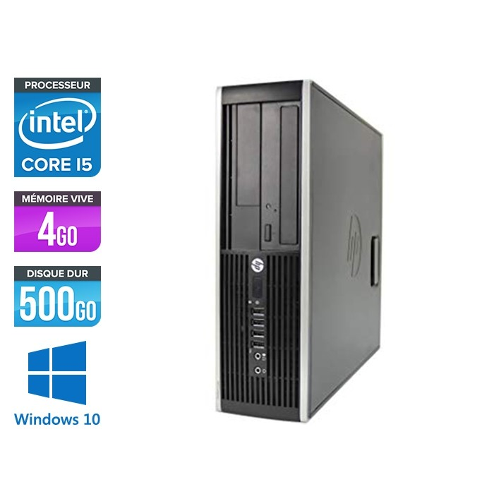 Pc de bureau professionnel reconditionné - HP 8300 SFF - Intel i5-3470 - 4Go - 500Go HDD - Windows 10