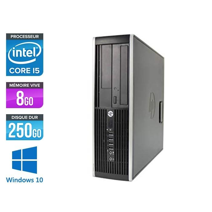 Pc de bureau professionnel reconditionné - HP 8300 SFF - Intel i5-3470 - 8 Go - 250 Go HDD - Windows 10