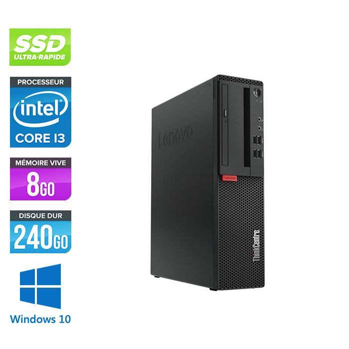 Pc de bureau reconditionne Lenovo ThinkCentre M710s SFF - Intel core i3-7100 - 8 Go RAM DDR4 - 240 Go SSD - Windows 10 Famille