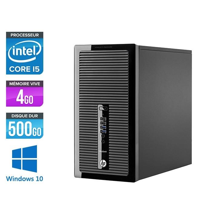 Pc de bureau reconditionné - HP ProDesk 490 G2 Tour - i5-4590 - 4Go DDR3 - 500Go HDD - Windows 10