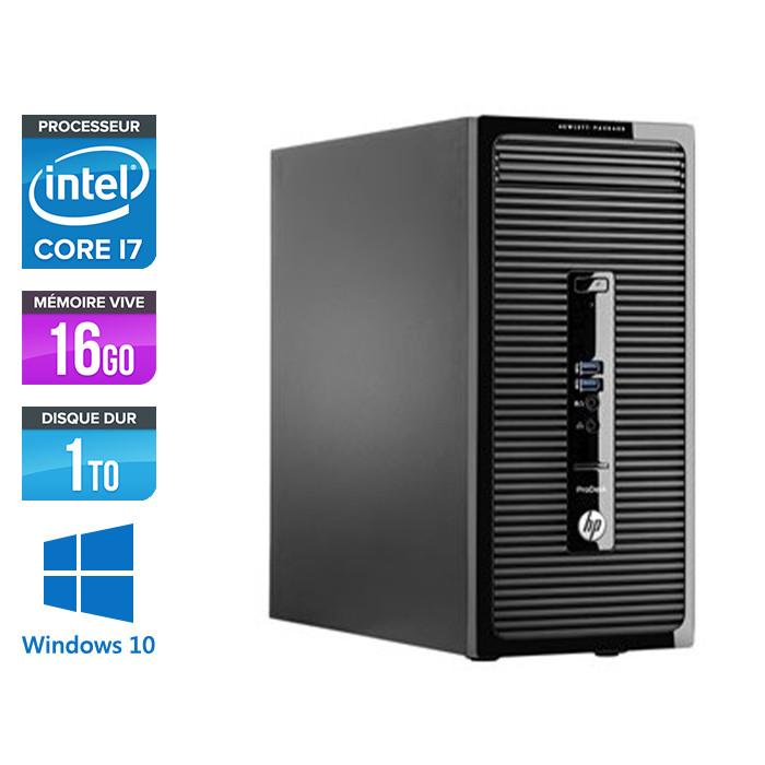 Pc de bureau reconditionné - HP ProDesk 490 G3 Tour - i7-6700 - 16Go DDR4 - 1 To HDD - Windows 10