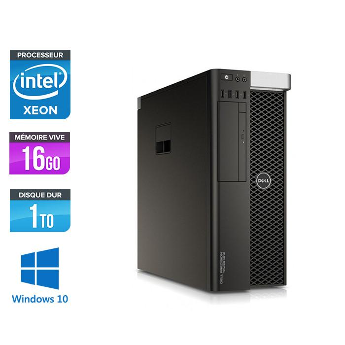 Dell T5810 - Xeon 1607 V3 - 16Go - 1To HDD - Quadro M2000 - W10