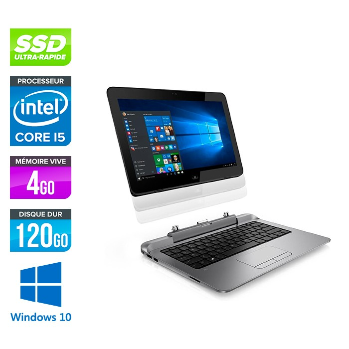 HP Pro X2 612 G1 - 4Go - 120Go SSD - 12.5 - Windows 10