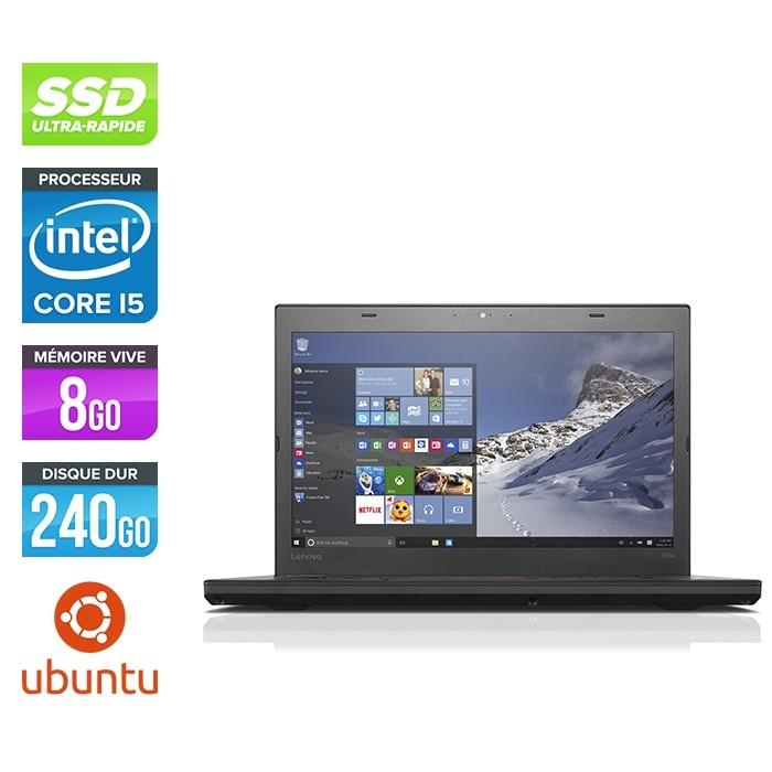 Lenovo ThinkPad T460 - i5 6300U - 8Go - SSD 240Go - FHD - Linux